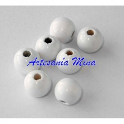 Bola de madera 12 mm blanca...