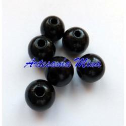 Bola de madera 12 mm negra...
