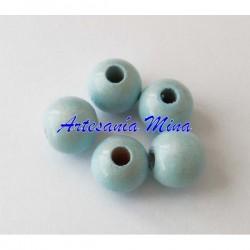 Bola de madera 12 mm azul...
