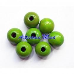 Bola de madera 12 mm verde...