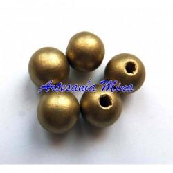Bola de madera 12 mm dorada...
