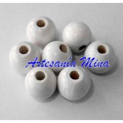 Bola de madera 10 mm blanca