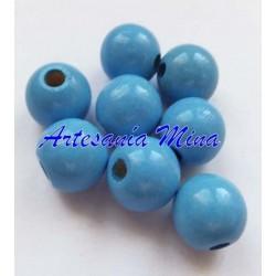 Bola madera 10 mm azul