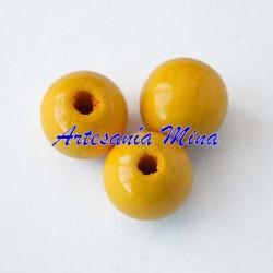 Bola madera 10 mm amarillo