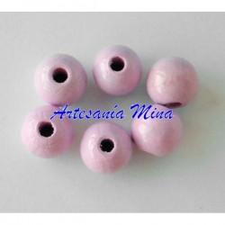 Bola de madera 10 mm rosa...