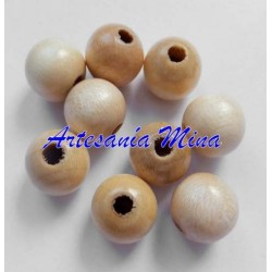 Bola madera natural 10 mm