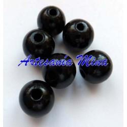 Bola de madera 10 mm negra