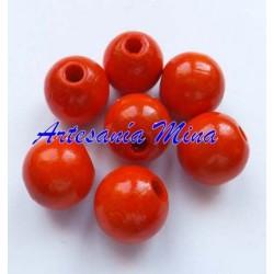 Bola de madera 10 mm naranja