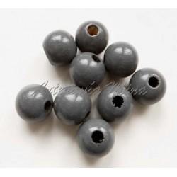 Bola de madera 10 mm gris