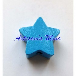 Estrella de madera azul...