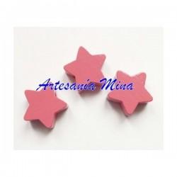 Estrella de madera rosa...