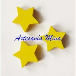 Estrella de madera amarilla...