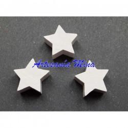 Estrella de madera blanca...