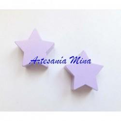 Estrella de madera lila...