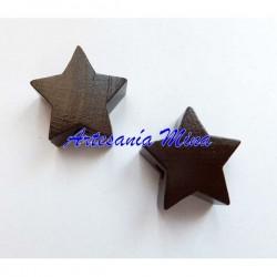 Estrella de madera marrón...
