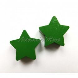 Estrella de madera verde...