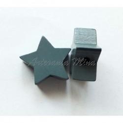 Estrella de madera gris...