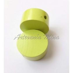 Círculo madera liso lemon...