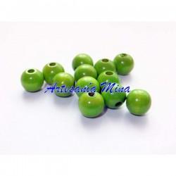 Bolas de madera 8 mm verde...