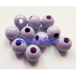 Bolas de madera 8 mm lila...