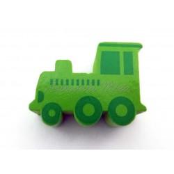 Tren de madera verde...