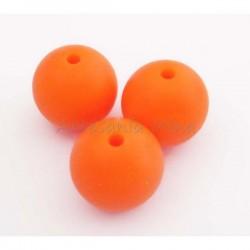 Bola de silicona 15 mm naranja