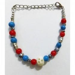 Pulsera azul/rojo/blanco