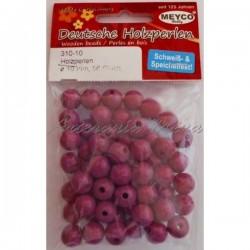 Bolas de madera 10 mm rosa...