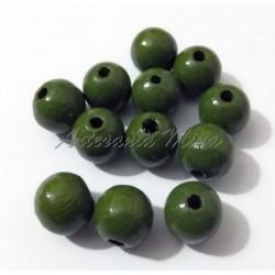 Bola de madera 10 mm verde...