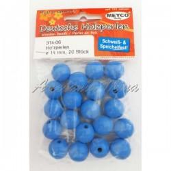 Bola de madera 14 mm azul...