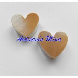 Corazón de madera natural...