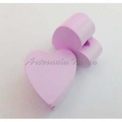 Corazón de madera rosa...