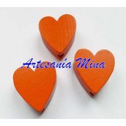 Corazón de madera mandarina...