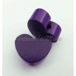 Corazón de madera púrpura...