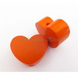 Corazón de madera naranja...