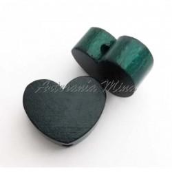 Corazón de madera verde...