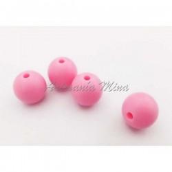 Bola de silicona 12 mm rosa