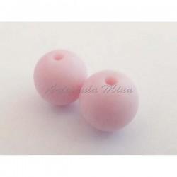 Bola de silicona 12 mm rosa...