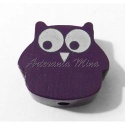 Búho de madera púrpura 22 x...