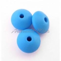 Lenteja de silicona 12 mm azul