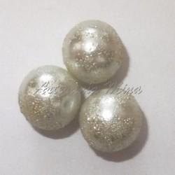 Perla acrílica 14 mm blanca