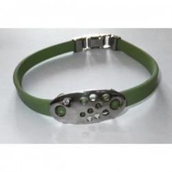 Pulsera caucho verde