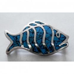 Broche pez Turquesa