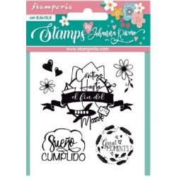 Set sellos Mundo Stamperia...
