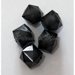Cubo facetado negro 12 mm....