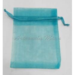 Bolsa organza azul turquesa...