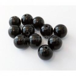 Cuenta Ágata negra 8 mm