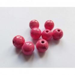 Cuenta howlita color rosa 8 mm