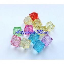 Cubos acrílicos mix colores...