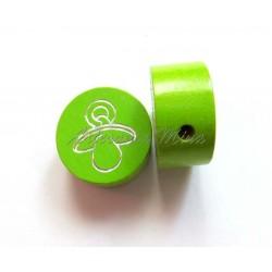 Círculo 20 mm madera verde...